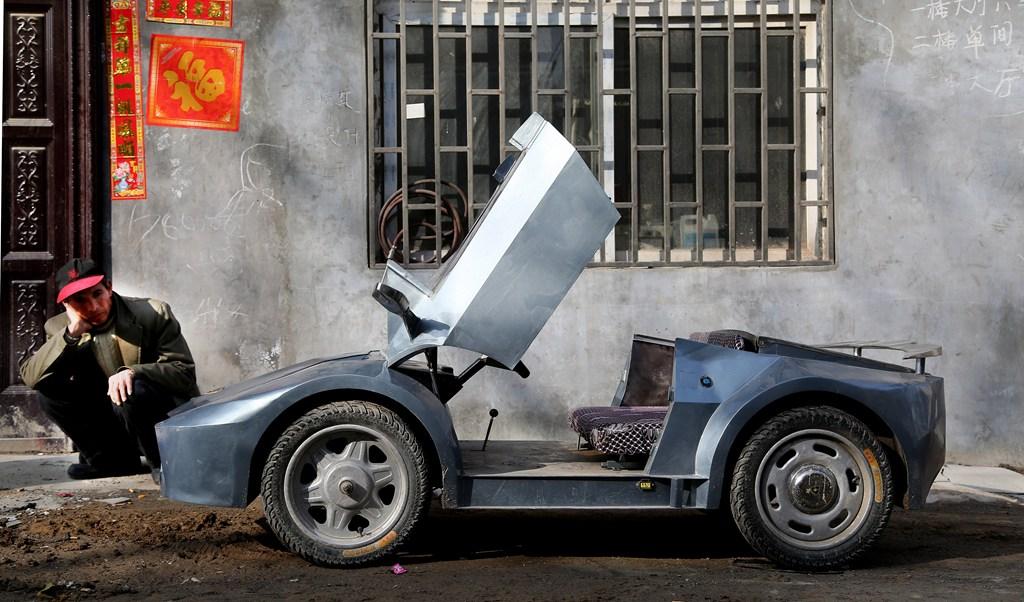 homemade miniature Lamborghini electric sports car 5